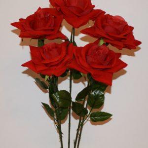 Ветка Роза бархат крупная ВЕ-34