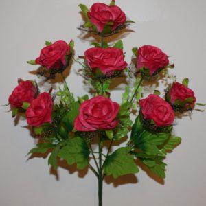 Роза бутон с фатином 9-ка СР-157