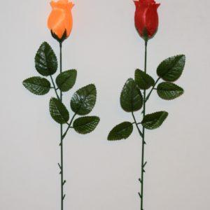 Ветка Роза бутон атласный непресованый ВЕ-50