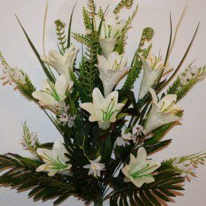 Лилия натуральная с мимозой не прес БО-274