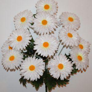 Ромашка атлас белая 14-ка БО-198