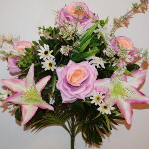 Роза открытая+лилия с ромашками не прес БО-214