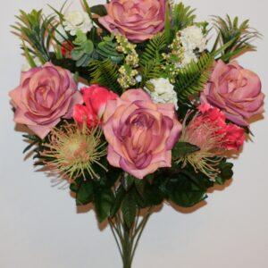 Роза открытая+ирис с ёжиками не прес БО-213