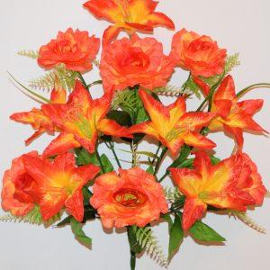 Роза с лилией 13-ка БО-223