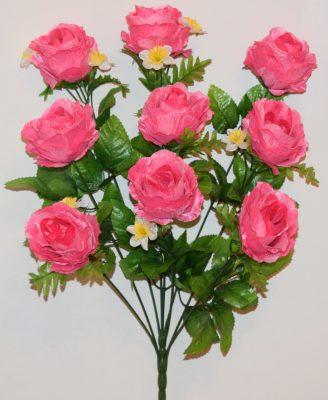 Роза бутон атласная с нарцисиком 9-ка не прес БО-298