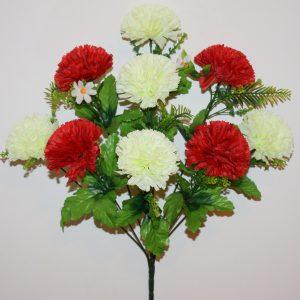 Шар Хризантема красно-белая 9-ка БО-299