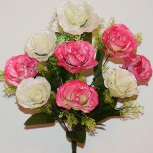 Роза атласная с пластмасками 9-ка не прес СР-382