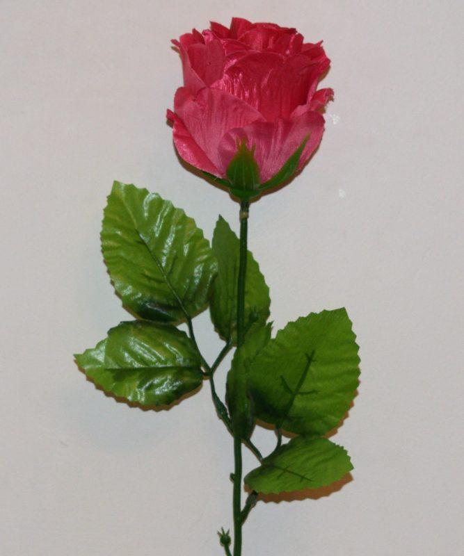 Ветка Роза бутон атласный ВЕ-29