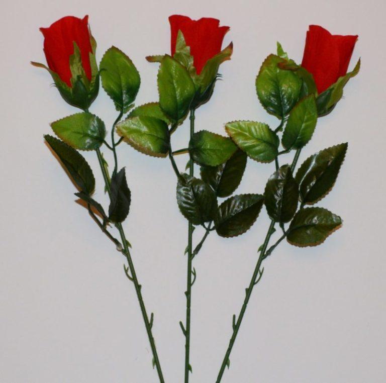 Ветка Роза бутон бархатная ВЕ-27