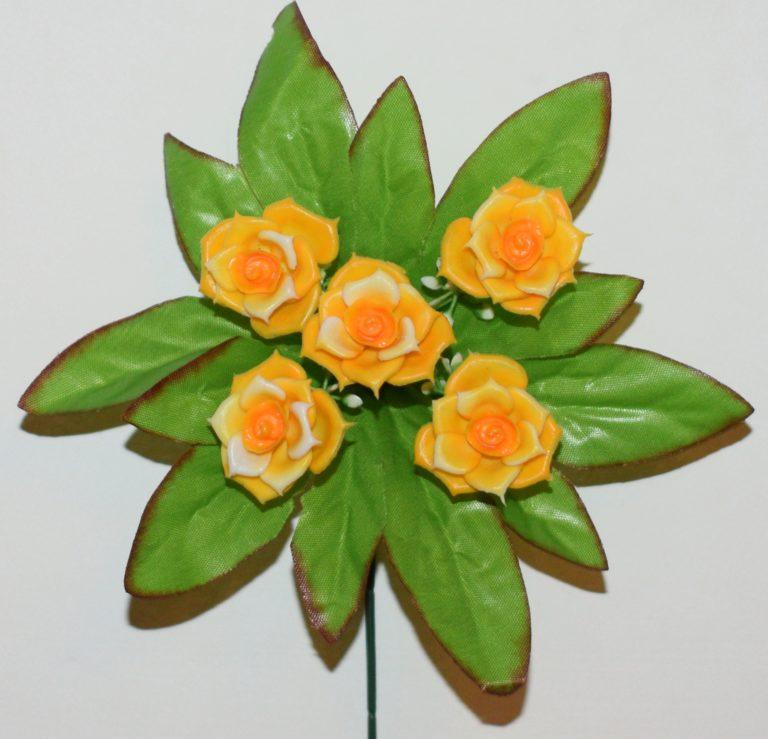 Роза пластмасовая 5-ка ЗК-76