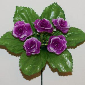 Роза пластмасовая 5-ка ЗК-70