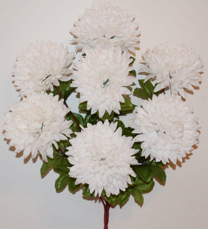 Шар хризантема красная нога 7-ка БО-161