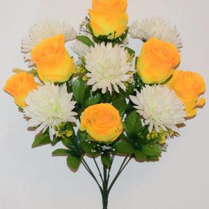 Бутон с хризантемами 12-ка не прес БО-287