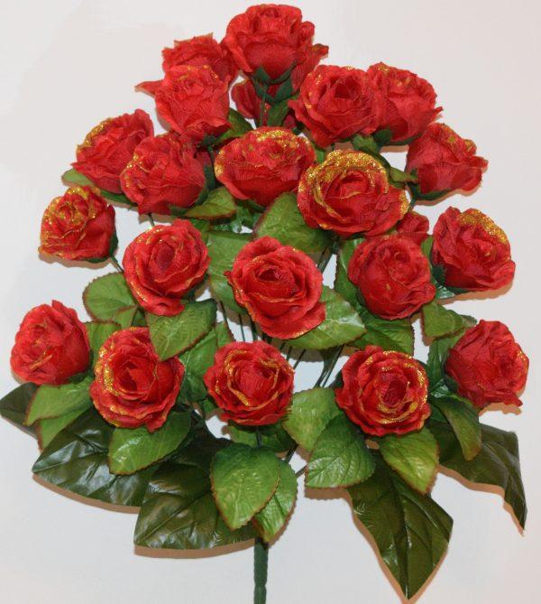 Роза золото 24 голов не прес БО-312
