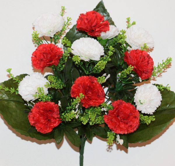 Гвоздика красная с белой 12-ка СР-366